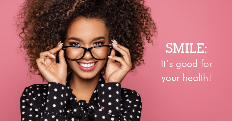Confident woman with straight teeth and good health